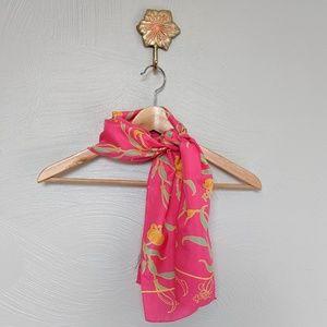 Sacha for Basha silk pink floral scarf